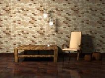 Disegno interno romantico di stanza moderna illustrazione vettoriale