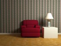 Disegno interno romantico di stanza moderna Immagini Stock