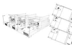 Disegno lineare della pianta della casa della creazione di for Disposizione della casa minuscola