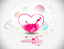 Disegno liquido del cuore di giorno dei biglietti di S. Valentino illustrazione di stock