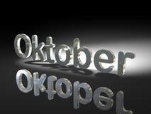 Disegno lucido del testo - Oktober Fotografia Stock Libera da Diritti