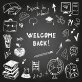 Disegno a mano libera del consiglio scolastico Immagini Stock Libere da Diritti