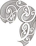Disegno maori del tatuaggio Fotografie Stock