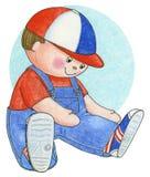 Disegno a matita della bambola Fotografia Stock