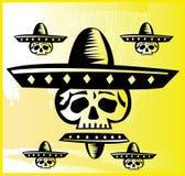 Disegno messicano del cranio Fotografia Stock