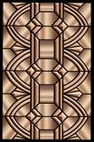 Disegno metallico di art deco illustrazione di stock