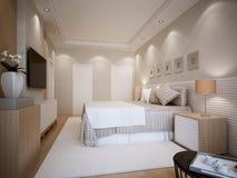 Disegno moderno della camera da letto Immagine Stock Libera da Diritti