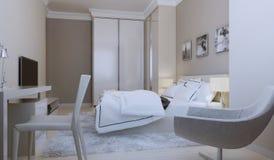Disegno moderno della camera da letto Fotografie Stock Libere da Diritti