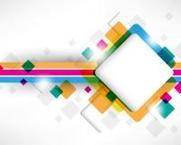 Disegno multicolore del quadrato della casella Fotografia Stock Libera da Diritti