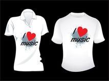Disegno musicale astratto della maglietta Fotografia Stock Libera da Diritti
