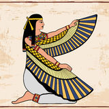 Disegno nazionale egiziano Fotografia Stock Libera da Diritti
