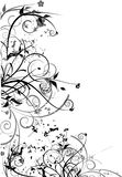 Disegno nero dei fiori illustrazione vettoriale