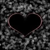 Disegno nero dentellare del cuore Fotografia Stock