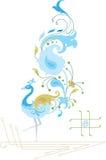 Disegno ornamentale del pavone Immagini Stock
