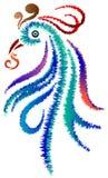 Disegno ornamentale del pavone Fotografia Stock Libera da Diritti
