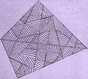 Disegno a penna del gel del campo delle linee Fotografia Stock