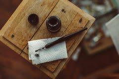 Disegno a penna ed inchiostro Immagini Stock