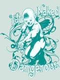 Disegno pericoloso nudo grasso Immagini Stock