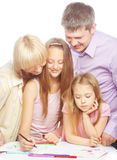 Disegno piacevole della famiglia Fotografia Stock Libera da Diritti