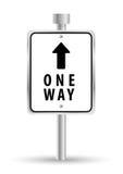 Disegno pubblicitario del segnale stradale di strada a senso unico, royalty illustrazione gratis