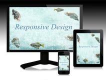 Disegno rispondente, Web site evolutivi fotografia stock