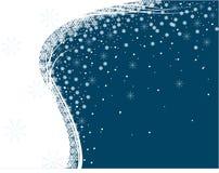 Disegno romantico di natale blu di vettore Immagini Stock Libere da Diritti