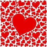 Disegno rosso dei cuori di amore su priorità bassa bianca Immagini Stock