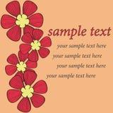 Disegno rosso del reticolo della scheda del fiore Fotografie Stock