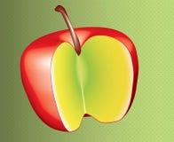 Disegno rosso della mela Fotografia Stock Libera da Diritti