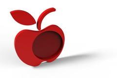 Disegno rosso della mela Fotografie Stock
