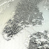 Disegno satellite di vista della mappa di New York Fotografia Stock