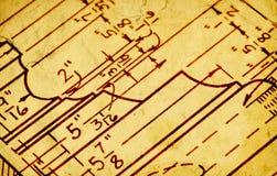 Disegno schematico Fotografia Stock