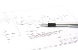 Disegno schematico elettronico Immagine Stock Libera da Diritti