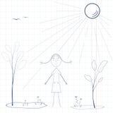 Disegno semplice dei bambini Royalty Illustrazione gratis