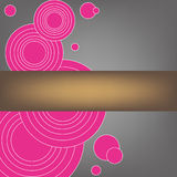 Disegno senza giunte del reticolo del cerchio per la cartolina d'auguri Immagini Stock Libere da Diritti