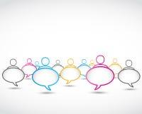 Disegno sociale astratto di discorso di media Fotografia Stock