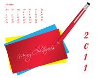 Disegno speciale del calendario fotografie stock
