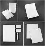 Disegno stabilito della cancelleria Modello della cancelleria Template corporativo per le illustrazioni di affari Fotografia Stock