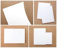 Disegno stabilito della cancelleria Modello della cancelleria Template corporativo per le illustrazioni di affari Fotografie Stock