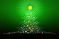 Disegno stilizzato Illustartion dell'albero di Natale Immagini Stock