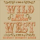 Disegno sull'ovest Immagini Stock