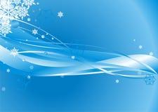 Disegno surreale dei fiocchi di neve Fotografie Stock Libere da Diritti