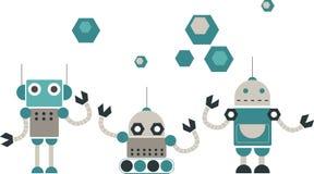 Disegno sveglio dei robot Fotografie Stock Libere da Diritti