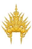 Disegno tailandese dorato del reticolo di stile Immagini Stock