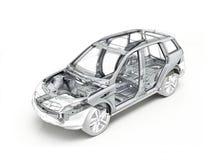 Disegno tecnico di Suv che mostra il telaio dell'automobile royalty illustrazione gratis