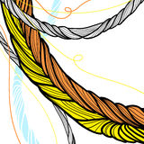 Disegno torto disegnato a mano delle corde Fotografia Stock Libera da Diritti
