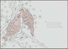 disegno a tratteggio degli uccelli illustrazione vettoriale