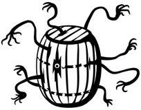 Disegno a tratteggio del fantasma del barilotto illustrazione vettoriale