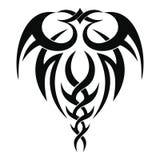 Disegno tribale del tatuaggio Fotografia Stock