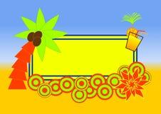 Disegno tropicale del contrassegno della spiaggia Fotografia Stock Libera da Diritti